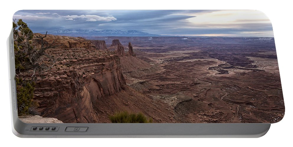 Mesa Arch Sunrise Canyonlands National Park Moab Utah Portable Battery Charger featuring the photograph Sunrise At Mesa Arch - Canyonlands National Park - Moab Utah by Brian Harig
