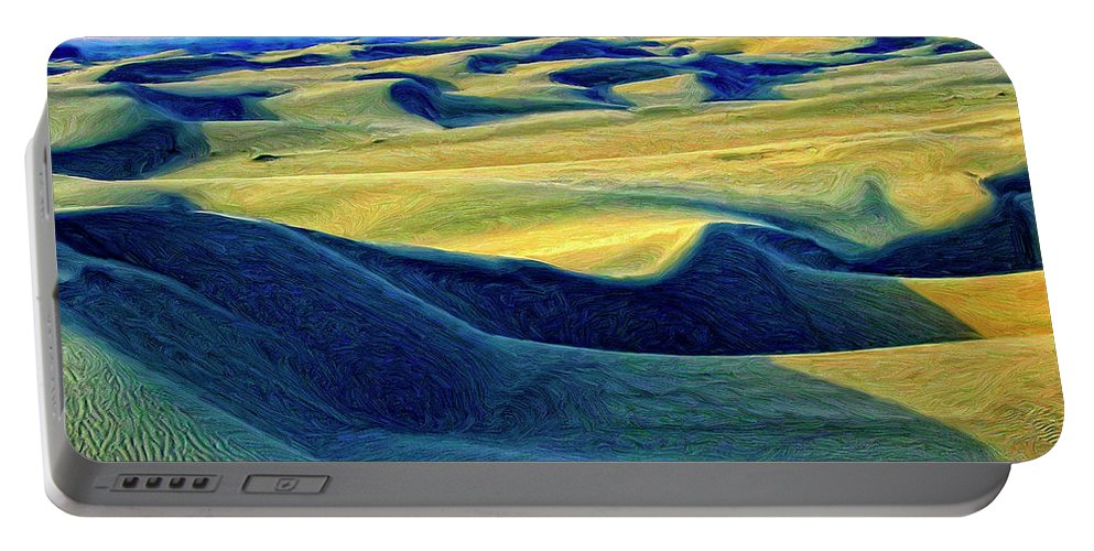 Sunrise At Oceano Sand Dunes Portable Battery Charger featuring the painting Sunrise At Oceano Sand Dunes by Dominic Piperata
