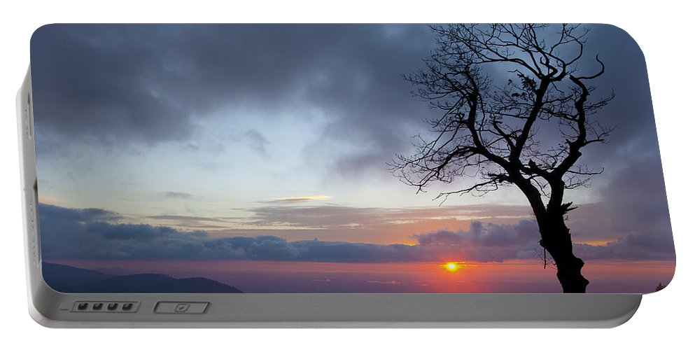 Sunrise Portable Battery Charger featuring the photograph Sunrise At Saddle Overlook by Amy Jackson