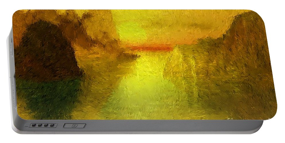 Nature Portable Battery Charger featuring the digital art Sunrise by David Lane