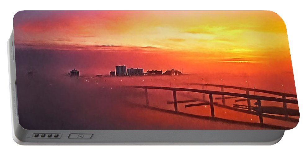 Alicegipsonphotographs Portable Battery Charger featuring the photograph Sunrise Fog by Alice Gipson