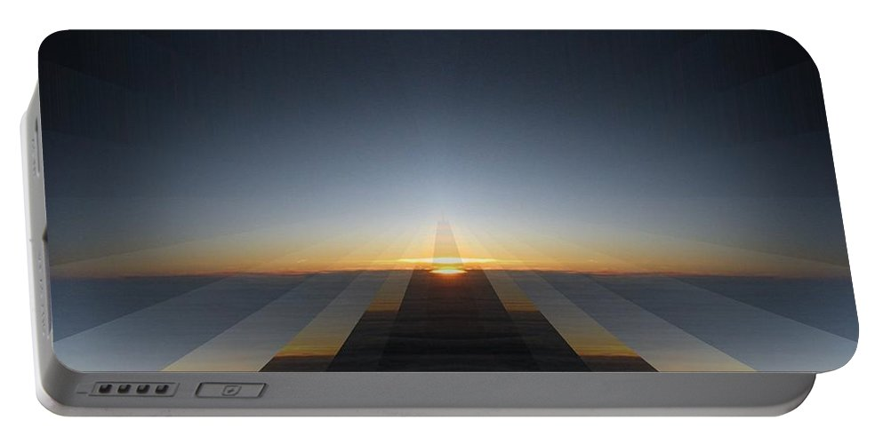 Sunrise Portable Battery Charger featuring the digital art Sunrise From 30k 3 by Tim Allen