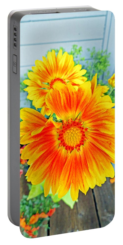Sunrise Portable Battery Charger featuring the photograph Sunrise In A Corner by Robert Meyers-Lussier
