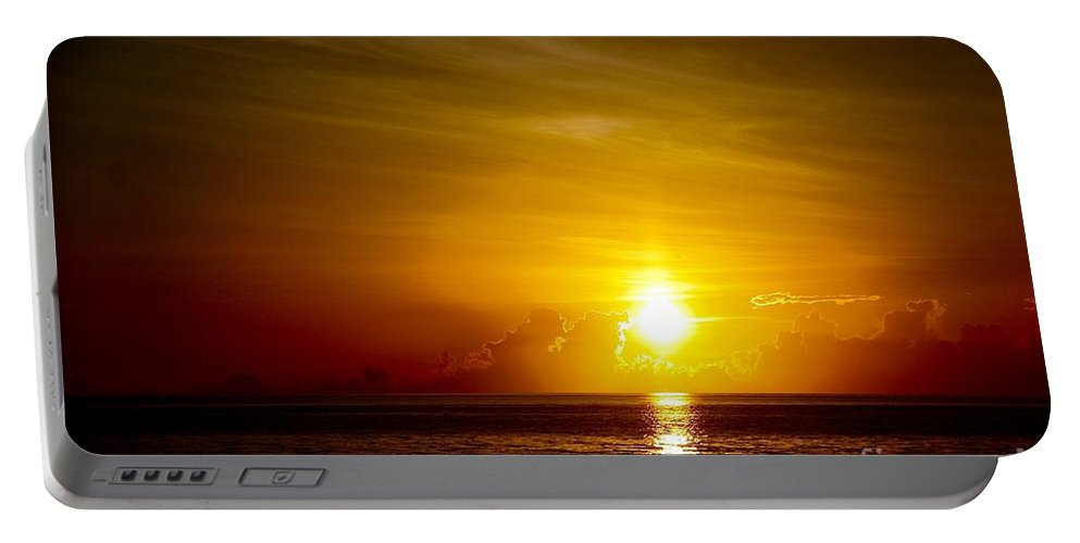 Sunrise Portable Battery Charger featuring the photograph Sunrise In Florida / C by Robert Cerri