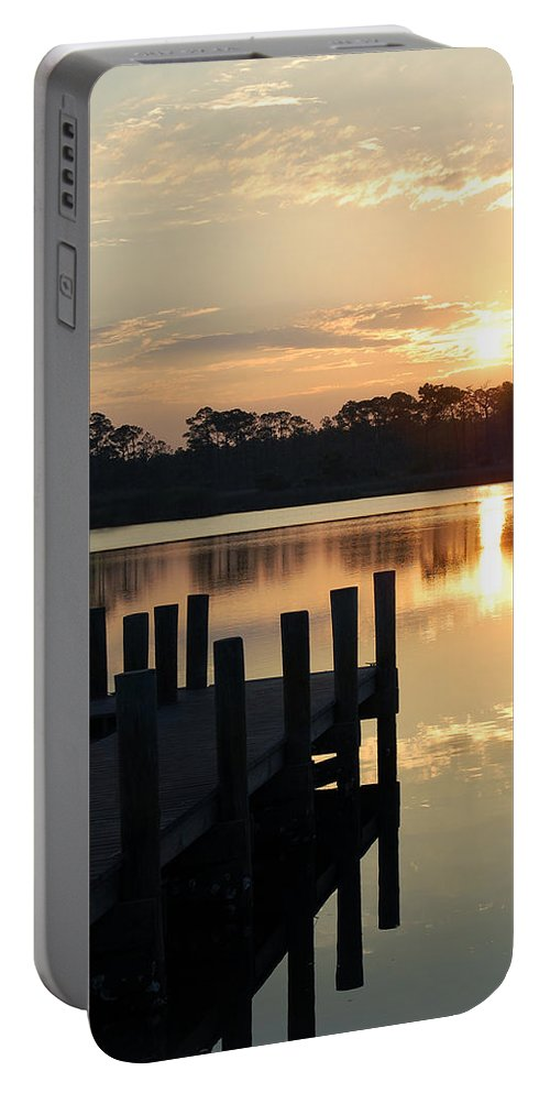 Surise Portable Battery Charger featuring the photograph Sunrise In Grayton Beach II by Robert Meanor
