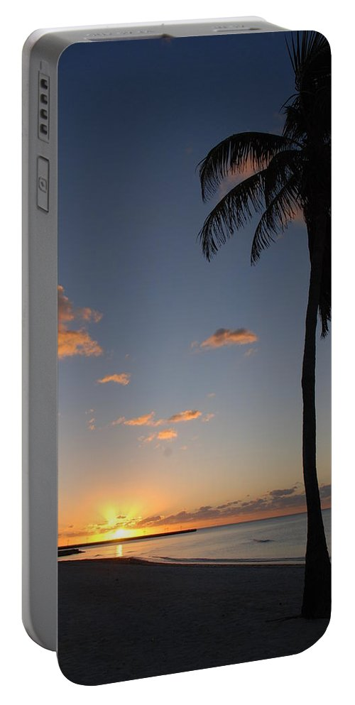 Sunrise Photos Portable Battery Charger featuring the photograph Sunrise In Key West 2 by Susanne Van Hulst
