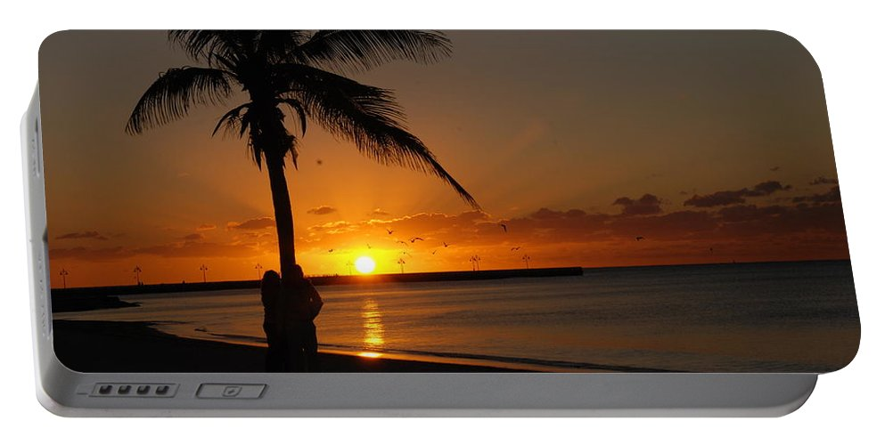 Sunrise Photos In Key West Fl Portable Battery Charger featuring the photograph Sunrise In Key West Fl by Susanne Van Hulst
