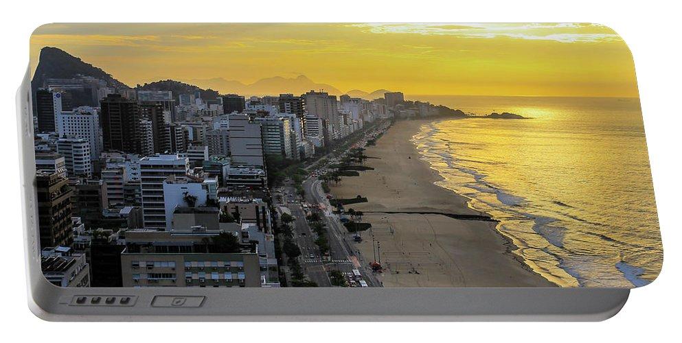 Rio De Janeiro Portable Battery Charger featuring the photograph Sunrise In Rio De Janeiro by Mao Lopez