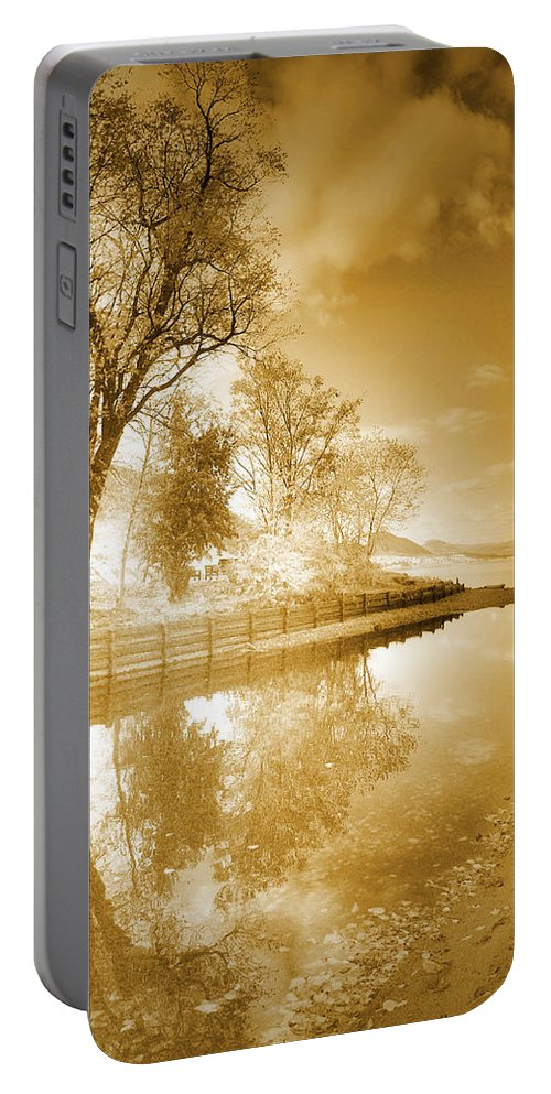 Sepia Portable Battery Charger featuring the photograph Sunrise In Sepia by Tara Turner
