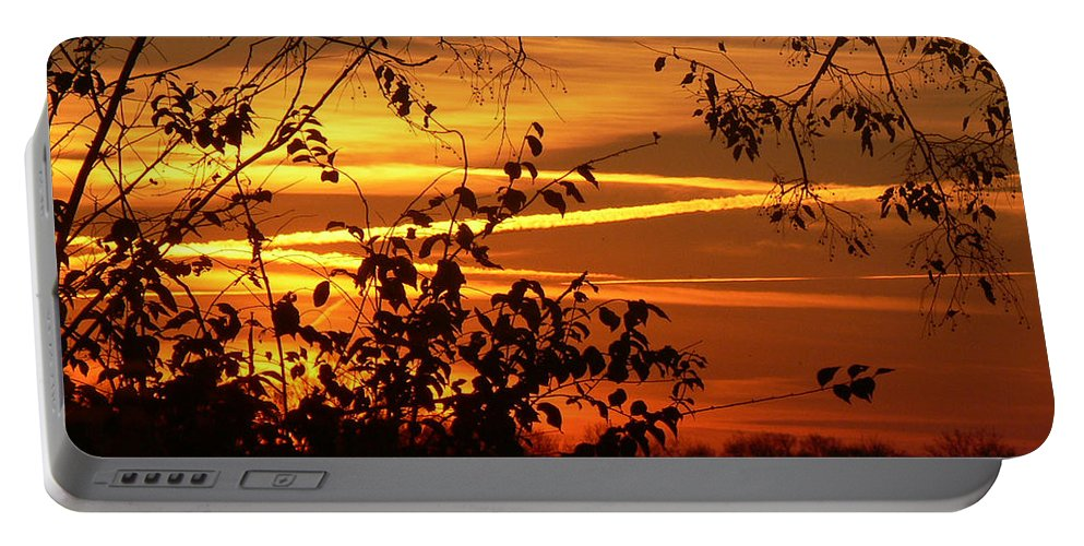 Photo Portable Battery Charger featuring the photograph Sunrise In Tennessee by Ericamaxine Price
