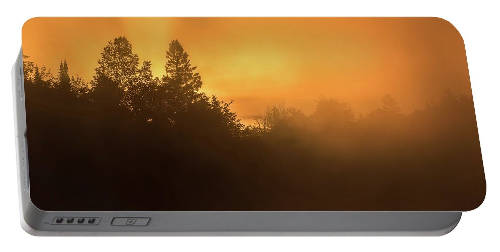 Chalet Portable Battery Charger featuring the photograph Sunrise by Jocelyne Feizo