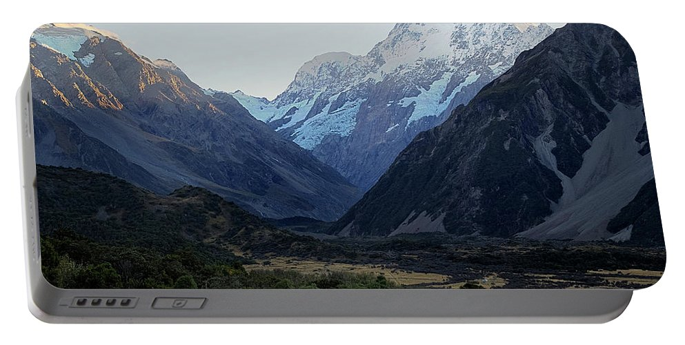 Sunrise Portable Battery Charger featuring the photograph Sunrise On Mt. Cook by Doug Matthews