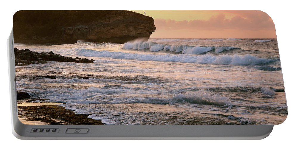 Hawaii Portable Battery Charger featuring the photograph Sunrise On Shipwreck Beach by Marie Hicks
