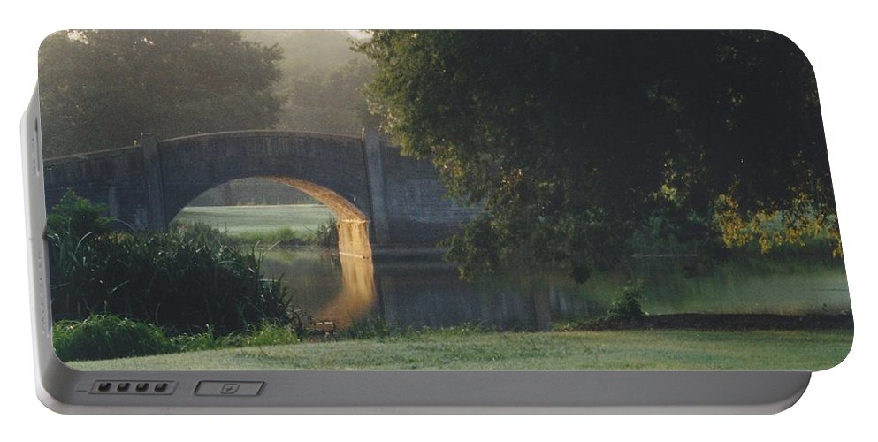 Bridge Portable Battery Charger featuring the photograph Sunrise On The Golf Course by Michelle Powell