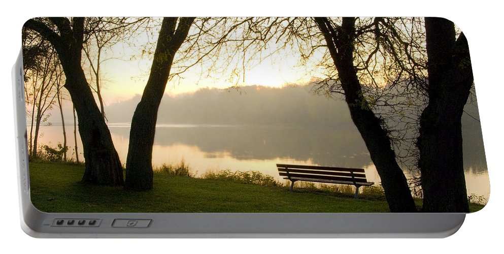 Sunrise Portable Battery Charger featuring the photograph Sunrise Over The Maumee by Jeffery Ball