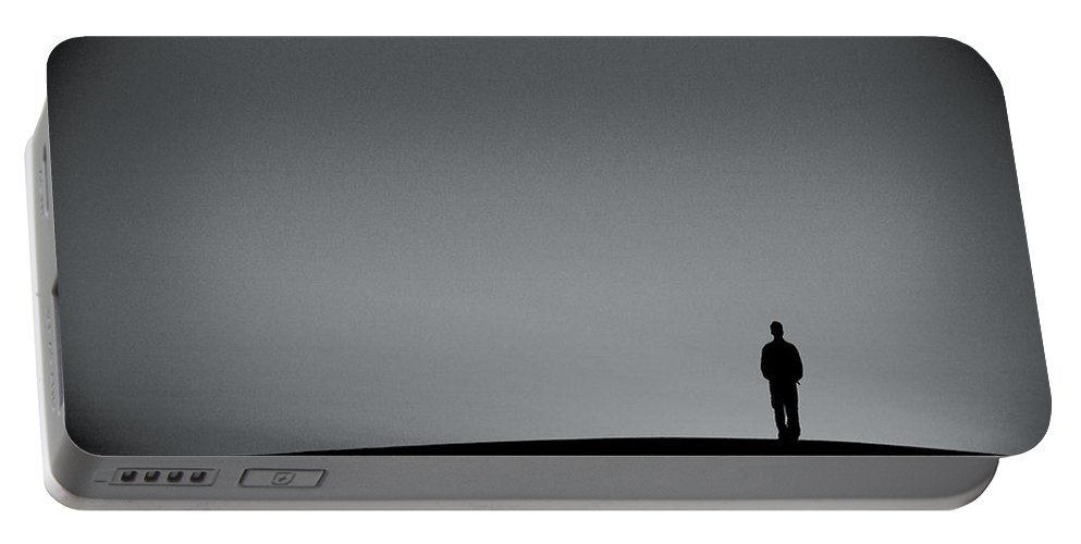 Silhouette Portable Battery Charger featuring the photograph Sunrise Silhouette by Scott Sawyer