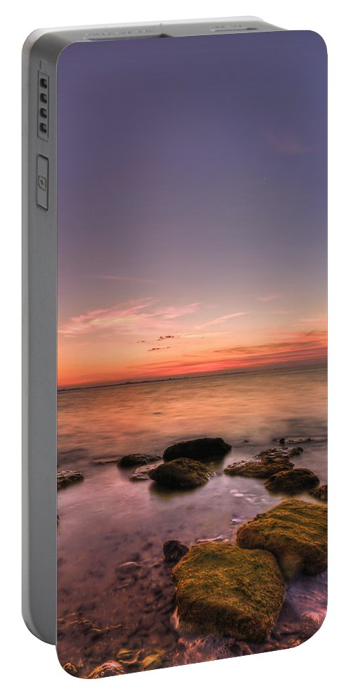 Florida Portable Battery Charger featuring the photograph Sunrise Wisp by Evelina Kremsdorf