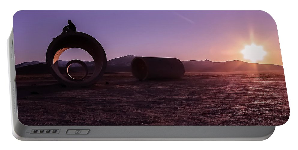 Sunset Portable Battery Charger featuring the photograph Sunset Admiration by Scott Ricks