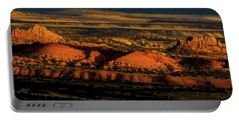 Donkey Flats Portable Battery Charger featuring the photograph Sunset At Donkey Flats by TL Mair