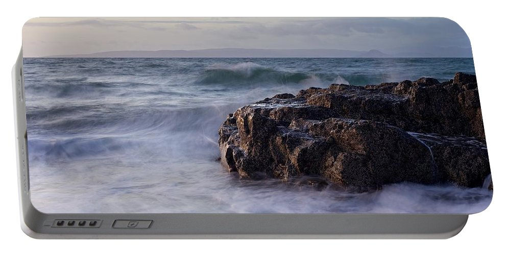 Dunure Portable Battery Charger featuring the photograph Sunset At Dunure by Stephen Taylor