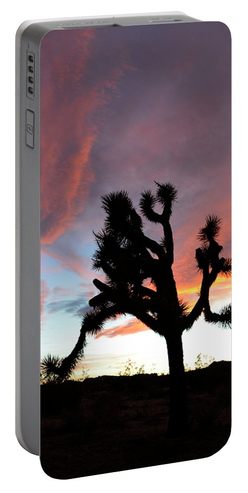 Joshua Tree National Park Portable Battery Charger featuring the photograph Sunset At Joshua Tree 2 by Bob Christopher