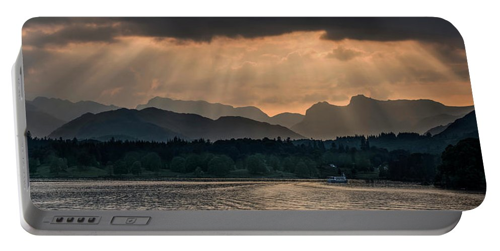 Sunset Portable Battery Charger featuring the photograph Sunset At Lake District by Jaroslaw Blaminsky