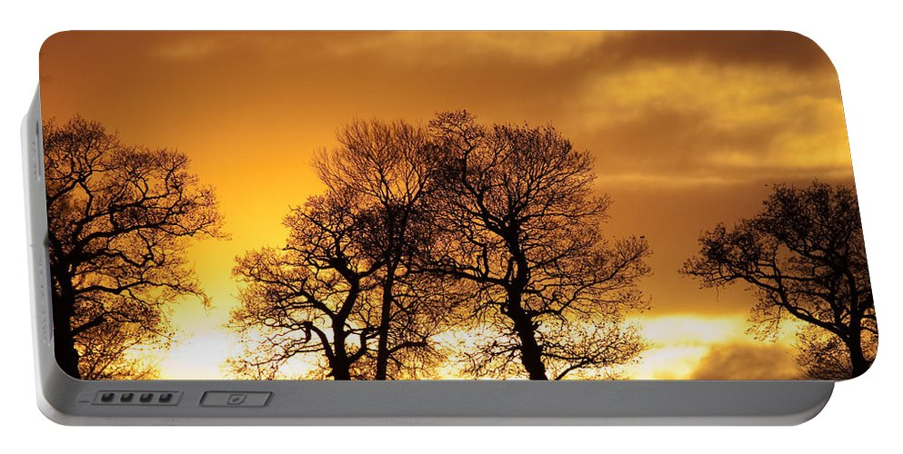 Sunset Portable Battery Charger featuring the photograph Sunset At Redhill by Bob Kemp
