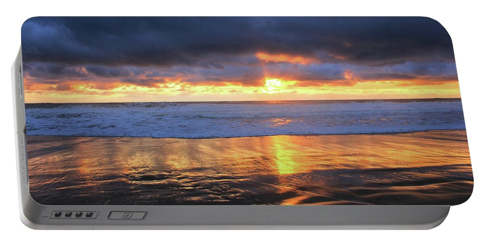 California Portable Battery Charger featuring the photograph Sunset At Salt Creek by Flat Owl Photo