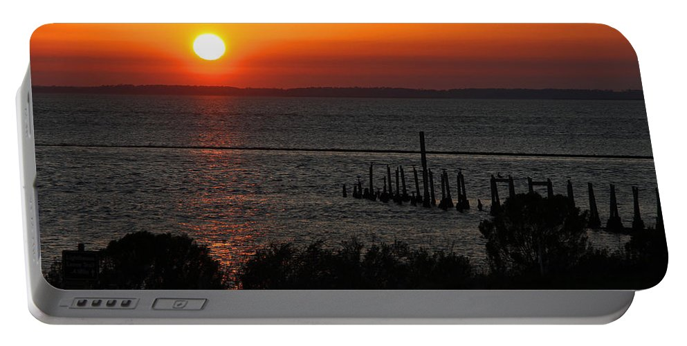 Sunset Portable Battery Charger featuring the photograph Sunset At St.marks Nwf by Barbara Bowen