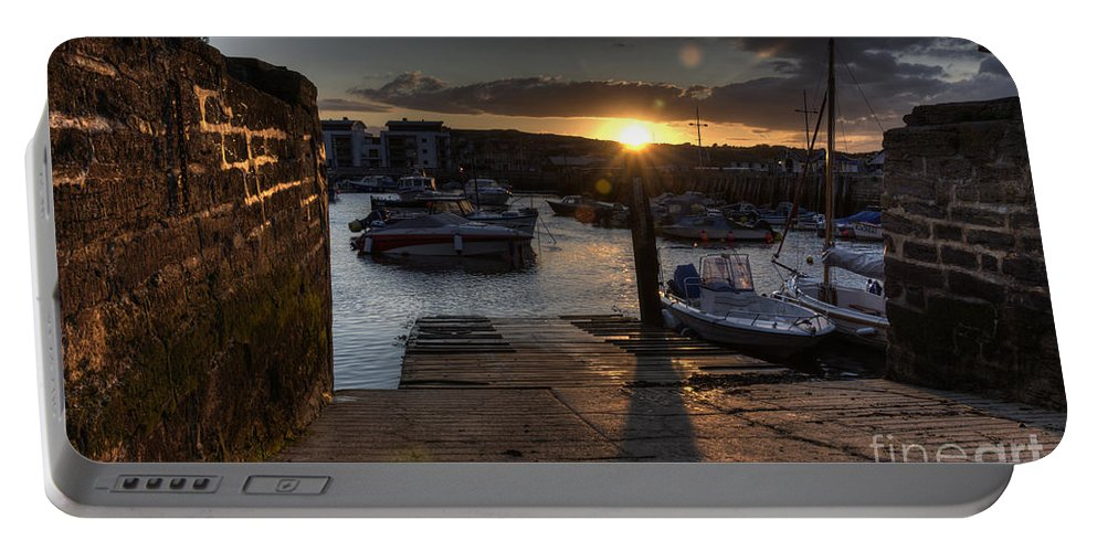 West Portable Battery Charger featuring the photograph Sunset At West Bay Harbour by Rob Hawkins