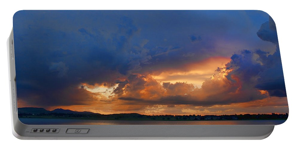 Blues Portable Battery Charger featuring the photograph Sunset Blues by James BO Insogna