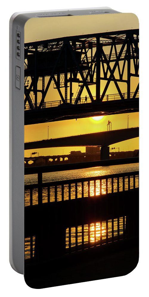 Sunset Portable Battery Charger featuring the photograph Sunset Bridge 2 by Arthur Dodd