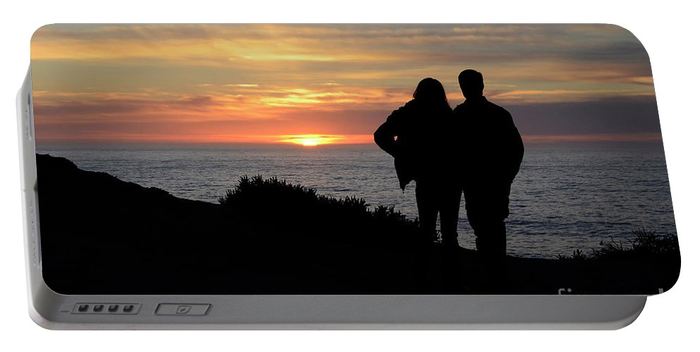 Sunset Portable Battery Charger featuring the photograph Sunset California Coast by Bob Christopher
