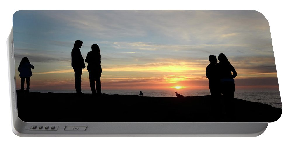 Sunset Portable Battery Charger featuring the photograph Sunset Couples by Bob Christopher