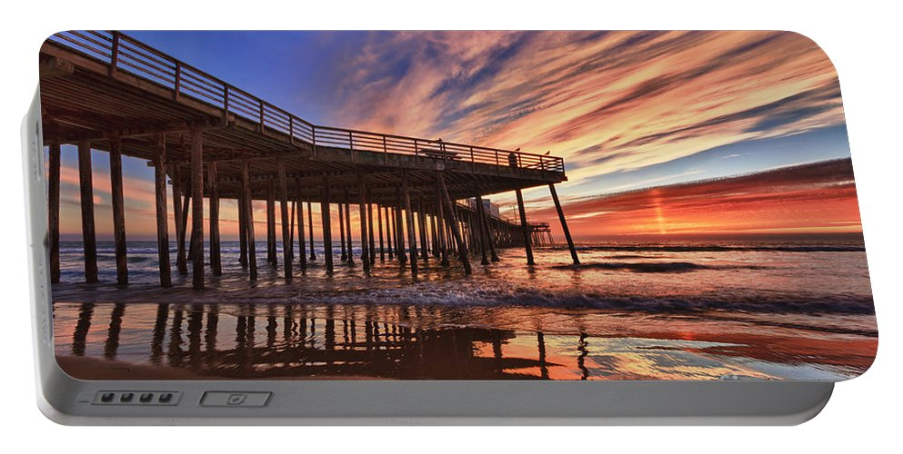 Pismo Beach Portable Battery Charger featuring the photograph Sunset Drama by Beth Sargent