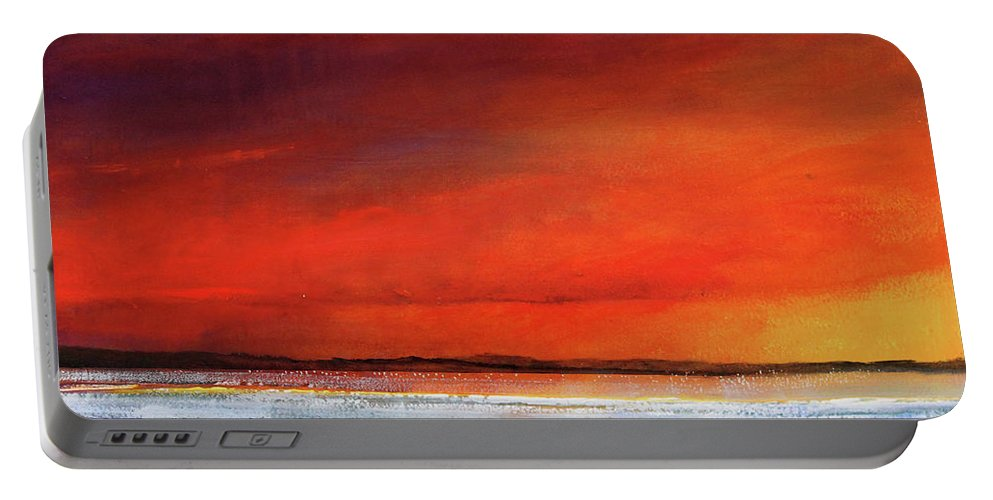 Sunrise Portable Battery Charger featuring the painting Sunset Dreamin by Toni Grote
