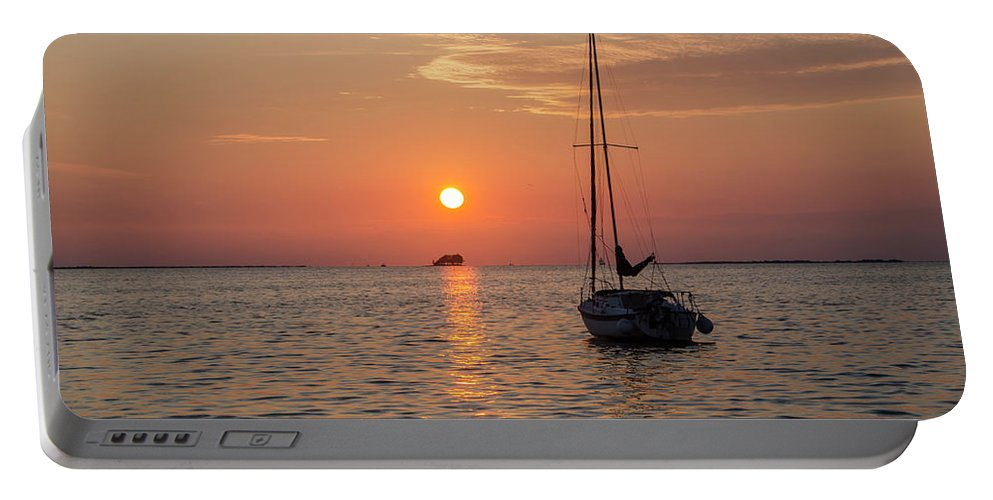 Sunset Portable Battery Charger featuring the photograph Sunset Dreams - Florida by Bill Cannon
