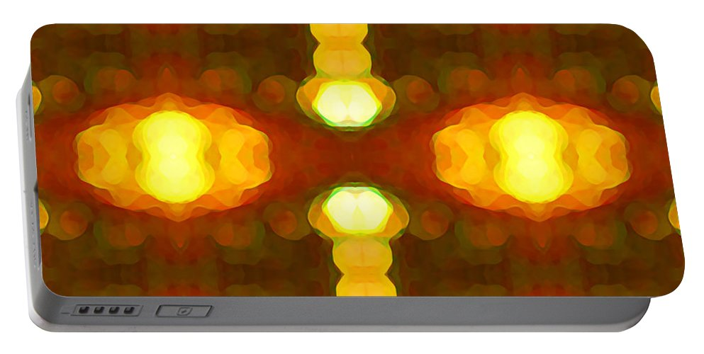 Abstract Painting Portable Battery Charger featuring the digital art Sunset Glow 1 by Amy Vangsgard