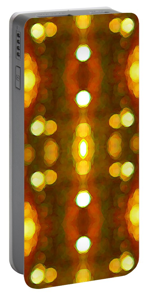 Abstract Portable Battery Charger featuring the painting Sunset Glow 2 by Amy Vangsgard