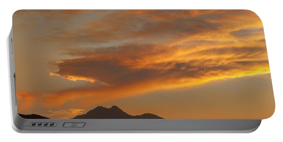 nature Photography Portable Battery Charger featuring the photograph Sunset Glow Over The Twin Peaks by James BO Insogna