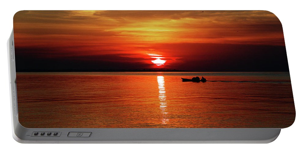 Sunset Portable Battery Charger featuring the photograph Sunset by Helton Mendes