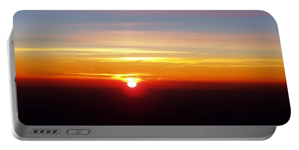 Pastel Portable Battery Charger featuring the photograph Sunset II by Deborah Crew-Johnson