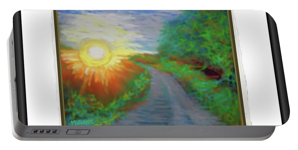Portable Battery Charger featuring the photograph sunset II by Shirley Moravec