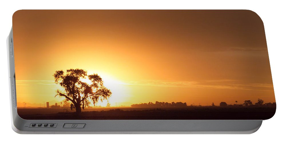 Sunset Portable Battery Charger featuring the photograph Sunset In Arizona by Scott Sawyer