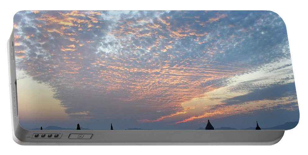 Asia Portable Battery Charger featuring the photograph Sunset In Bagan by Michele Burgess