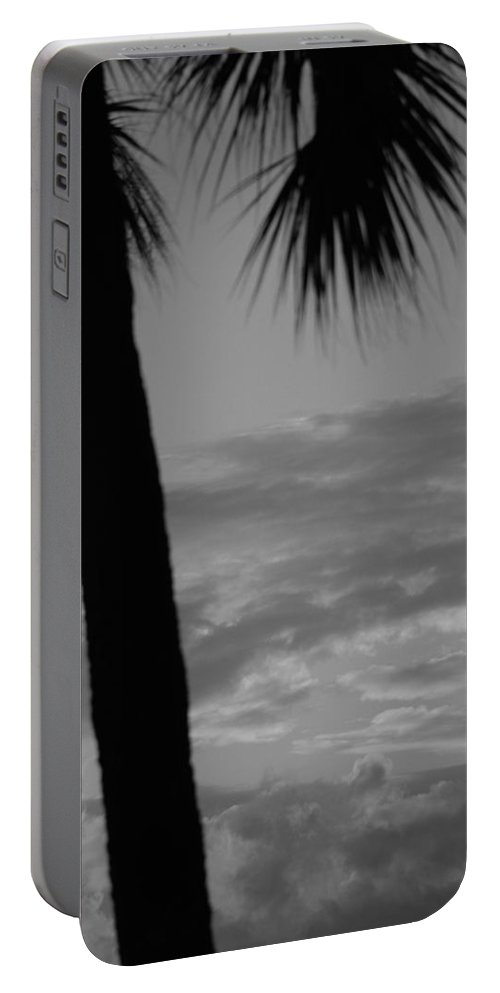 Black And White Portable Battery Charger featuring the photograph Sunset In Black And White by Rob Hans