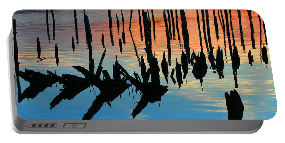 Clay Portable Battery Charger featuring the photograph Sunset in Colonial Beach Virginia by Clayton Bruster