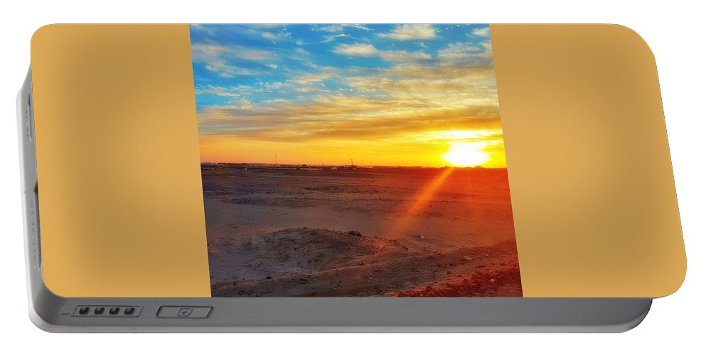 Sunset Portable Battery Charger featuring the photograph Sunset In Egypt by Usman Idrees