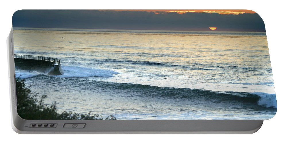Sunset Portable Battery Charger featuring the photograph Sunset In La Jolla by Anthony Jones