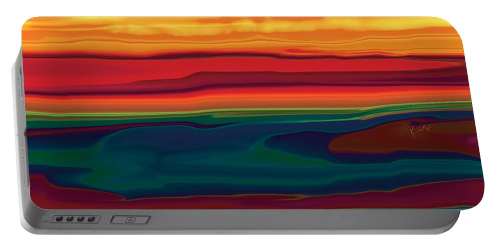 Art Portable Battery Charger featuring the digital art Sunset In Ottawa Valley by Rabi Khan